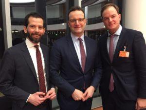 Prof. Dr. Martin Pätzold, Minister Jens Spahn, MdB, Dr. Oliver Rottmann